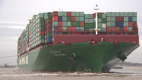 CSCL Globe carries 19,100 containers