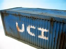 Rustyu Shipping Container with Company Logo