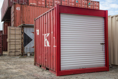 Rollup door shipping container modification