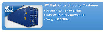 40ft HC Shipping Containers - High Cube