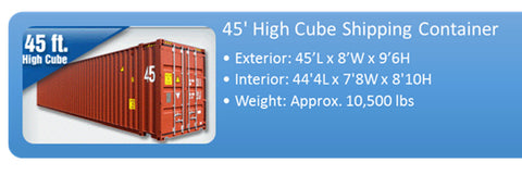 Used 45ft shipping container - High cube