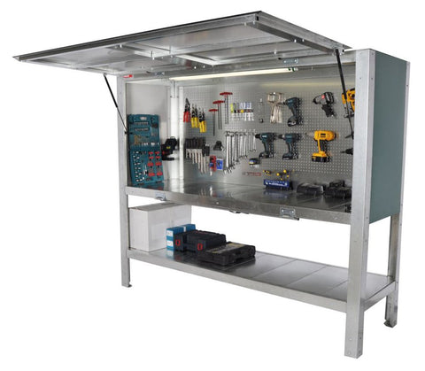 Enclosed Secure Tool Storage and Bench