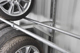 Tire racks for shipping container