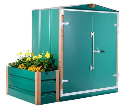 Garden Shed with Planter