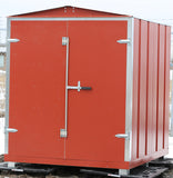 "Garden Sheds  - Galvanised steel. 6' x 7' x 6'6"" Usable Space - Red"