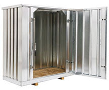 Standard steel weatherproof storage container