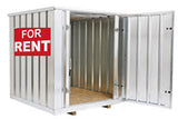 Rent a steel storage container