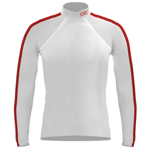 Long Sleeve San Diego Rowing Club Warm-Up Shirt - White/Red