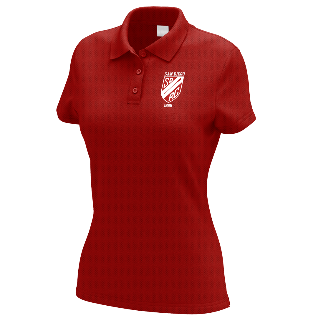 San Diego Rowing Club Juniors Embroidered Performance Ladies Polo