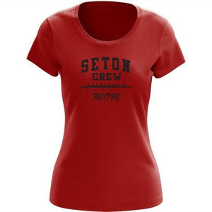 100% Cotton Elizabeth Seton HS Crew MOM Spirit T-Shirt