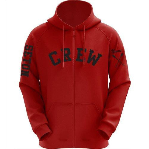 Women's Hooded Elizabeth Seton HS Crew Full Zip Sweatshirt
