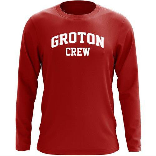Custom Groton Crew Long Sleeve Cotton T-Shirt