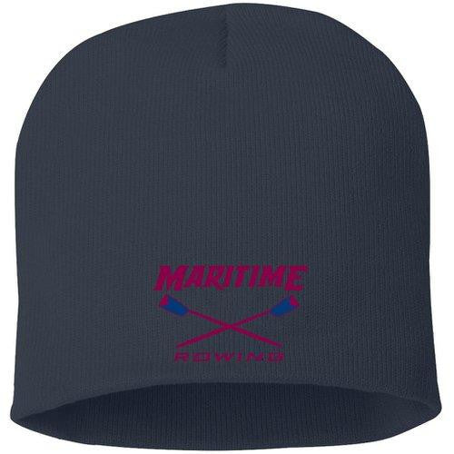 Straight Knit Maritime Rowing Beanie