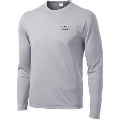 South Bend Community Rowing Long Sleeve embroidered DryTex Performance T-Shirt