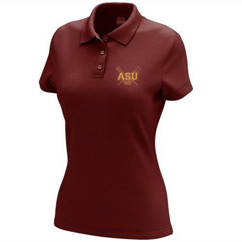 Arizona State Rowing Embroidered Performance Ladies Polo