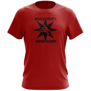 100% Cotton  Bergen County Rowing Association Men's Team Spirit T-Shirt