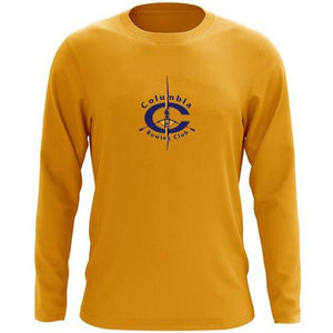 Custom Columbia Rowing Club Long Sleeve Cotton T-Shirt