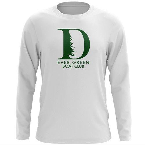 Custom Ever Green Boat Club Long Sleeve Cotton T-Shirt