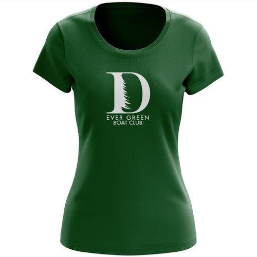 100% Cotton Ever Green Boat Club Women's Spirit T-Shirt
