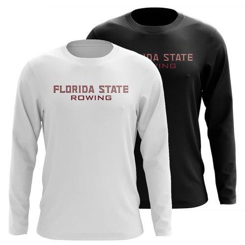 Custom Florida State Rowing Long Sleeve Cotton T-Shirt