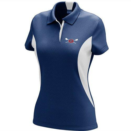 Grassfield Crew Embroidered Performance Ladies Polo - Colorblocked