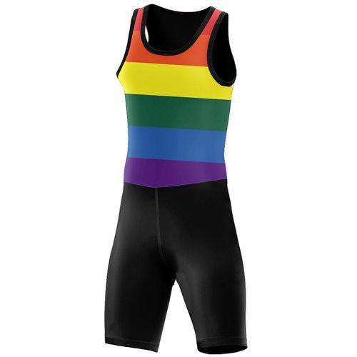 Row For One, Row For All Bold Rainbow Men's Unisuit