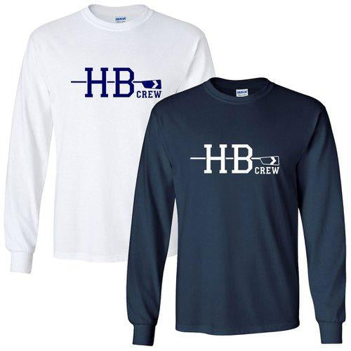 Custom Hollis Brookline Crew Long Sleeve Cotton T-Shirt