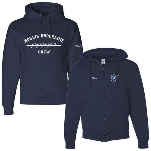 50/50 Hooded Hollis Brookline Crew Pullover Sweatshirt