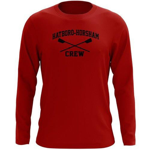 Custom Hatboro Horsham Crew Long Sleeve Cotton T-Shirt