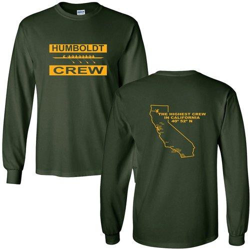 Custom Humboldt State University Long Sleeve Cotton T-Shirt