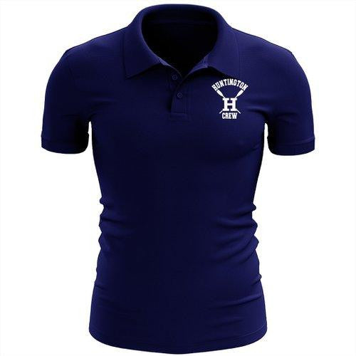 Huntington Crew Embroidered Performance Men's Polo