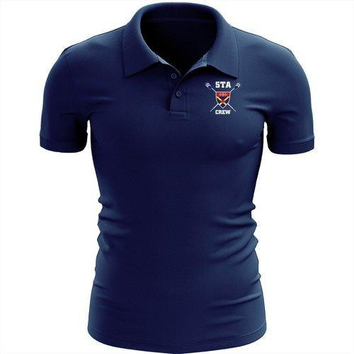 STA Crew Rowing Embroidered Performance Men's Polo