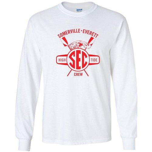 Custom Somerville-Everett High Tide Crew Long Sleeve Cotton T-Shirt