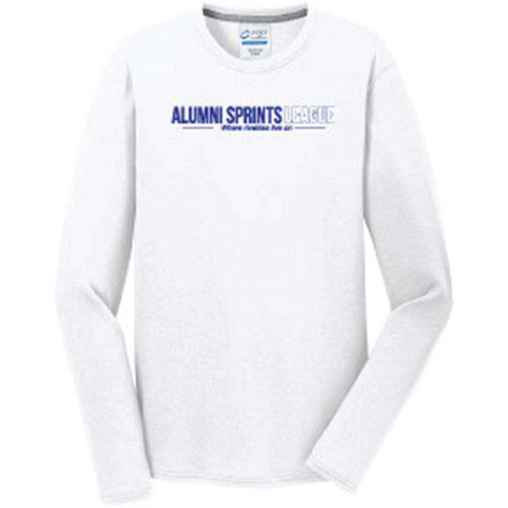 Long Sleeve Performance Wicking T-Shirt (White)