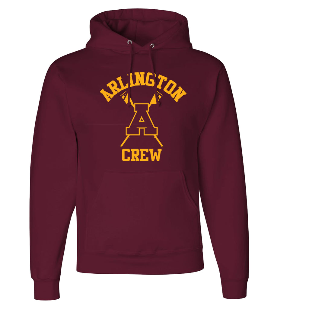 50/50 Hooded Arlington Crew Pullover Sweatshirt