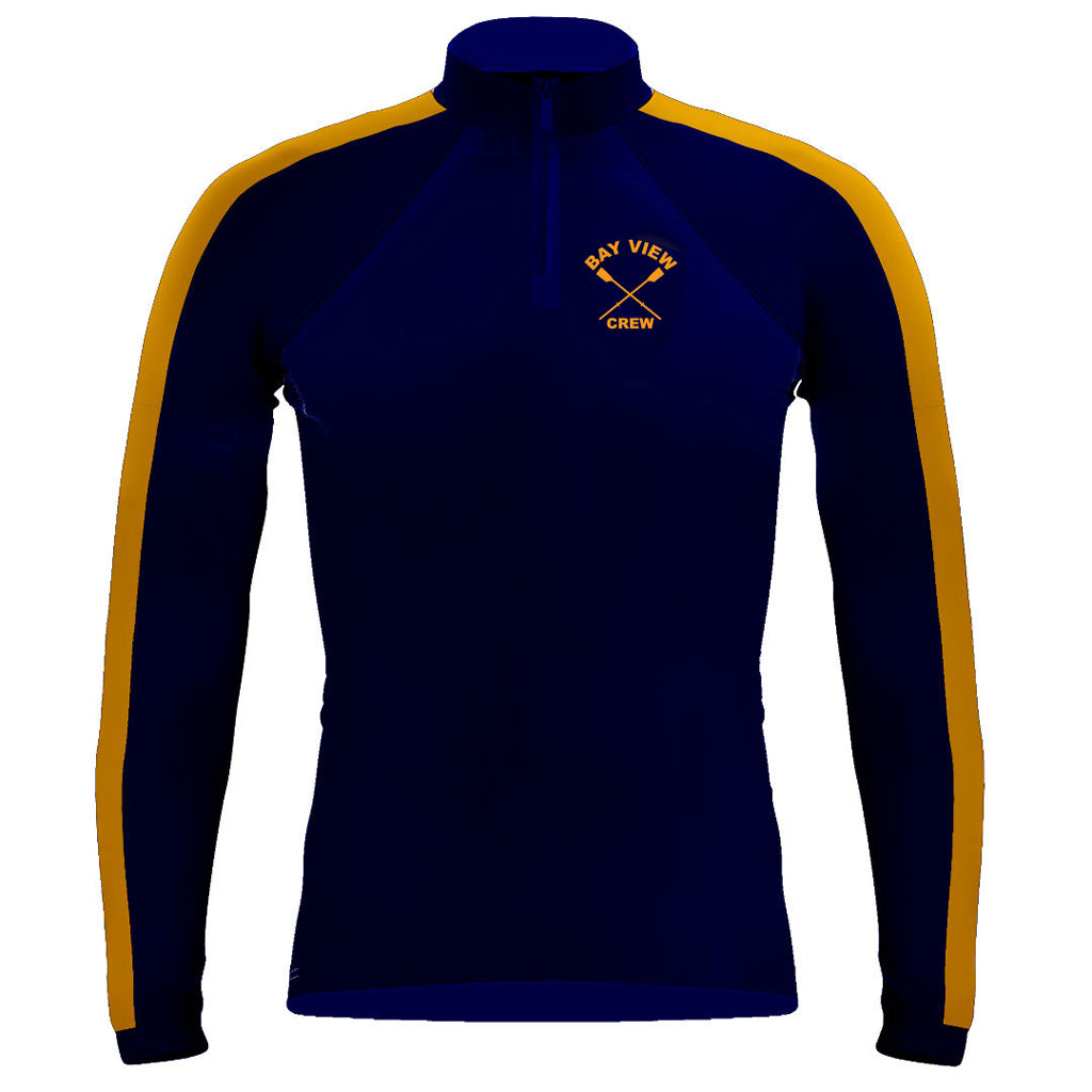 Long Sleeve Bay View Crew 1/4 Zip Warm-Up Shirt