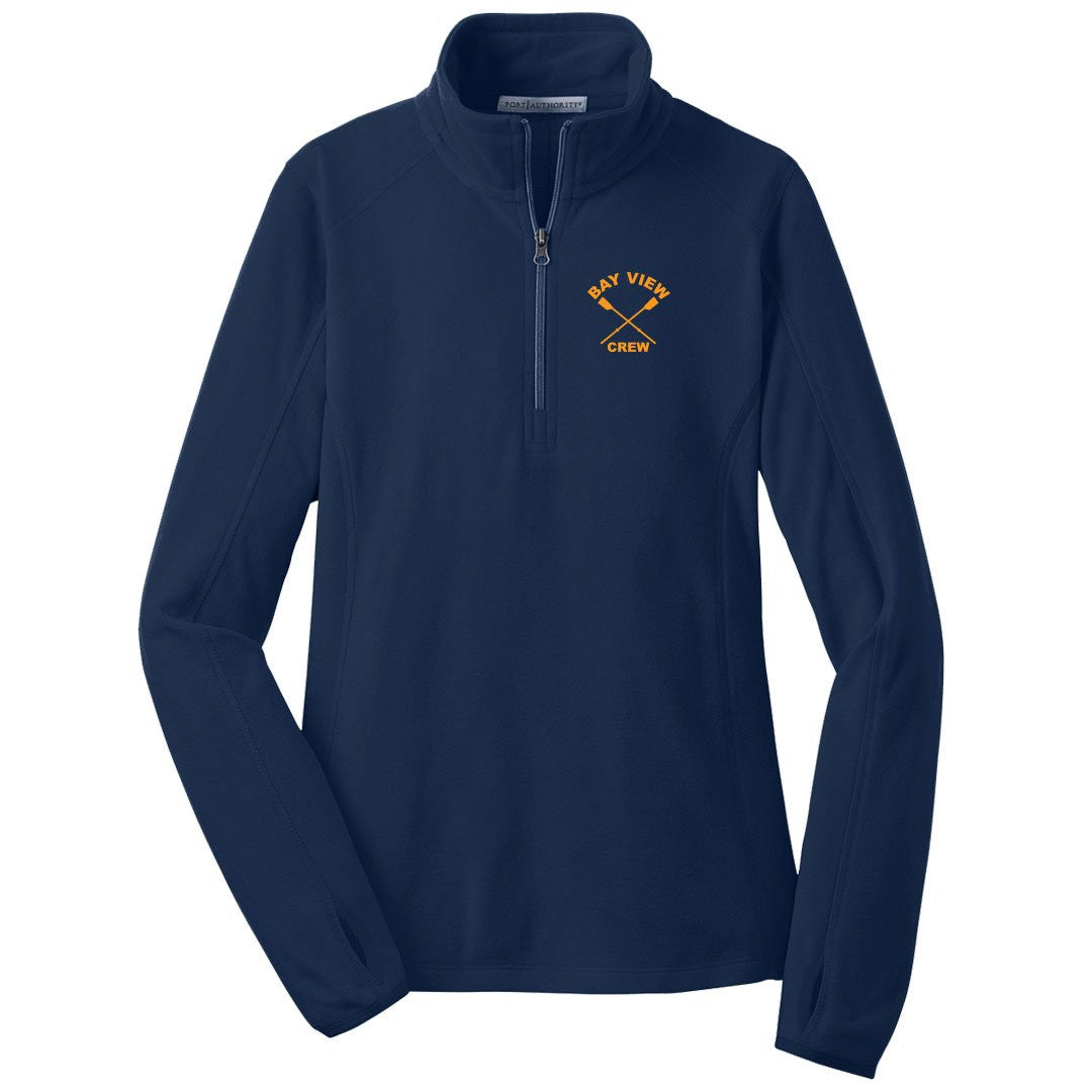 Ladies 1/4 Zip Bay View Crew Fleece Pullover