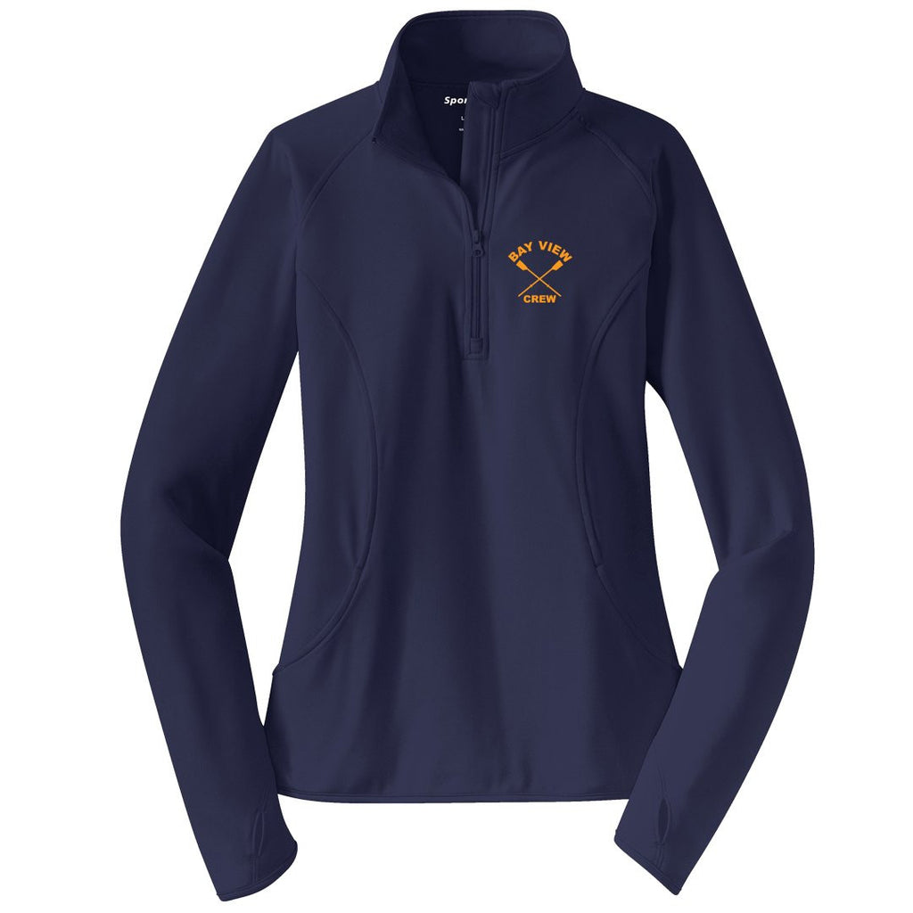Bay View Crew Ladies Performance Pullover w/ Thumbhole