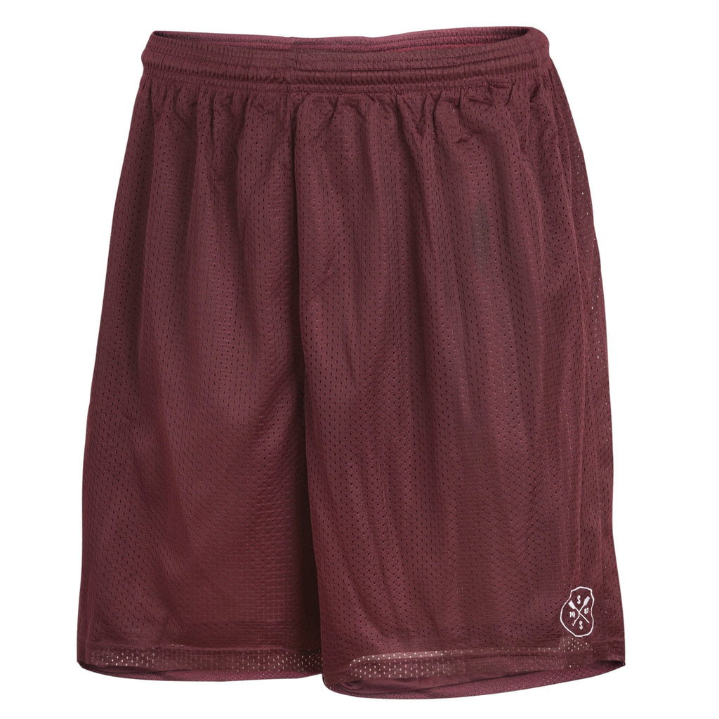 Mesh Crew Shorts (Burgandy)