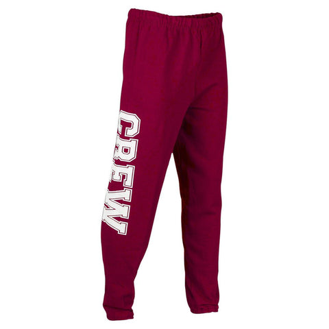 Sew Sporty Crew Sweatpants (Maroon)
