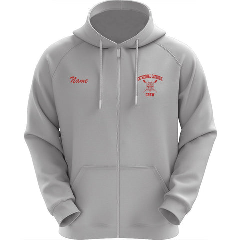 50/50 Hooded Cathedral Catholic Crew Pullover Sweatshirt