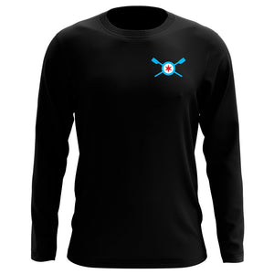 Custom Chicago Rowing Foundation Long Sleeve Cotton T-Shirt