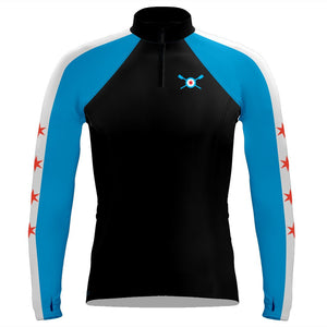 Long Sleeve Chicago Rowing Foundation Warm-Up Shirt Zipper neck