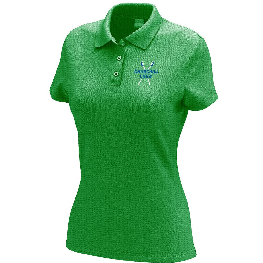 Churchill Crew Embroidered Performance Ladies Polo