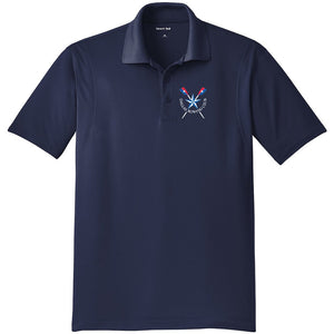 Dallas Rowing Club Juniors Embroidered Performance Men's Polo