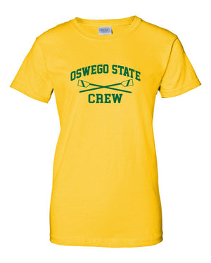 100% Cotton Oswego State Crew Women's Team Spirit T-Shirt