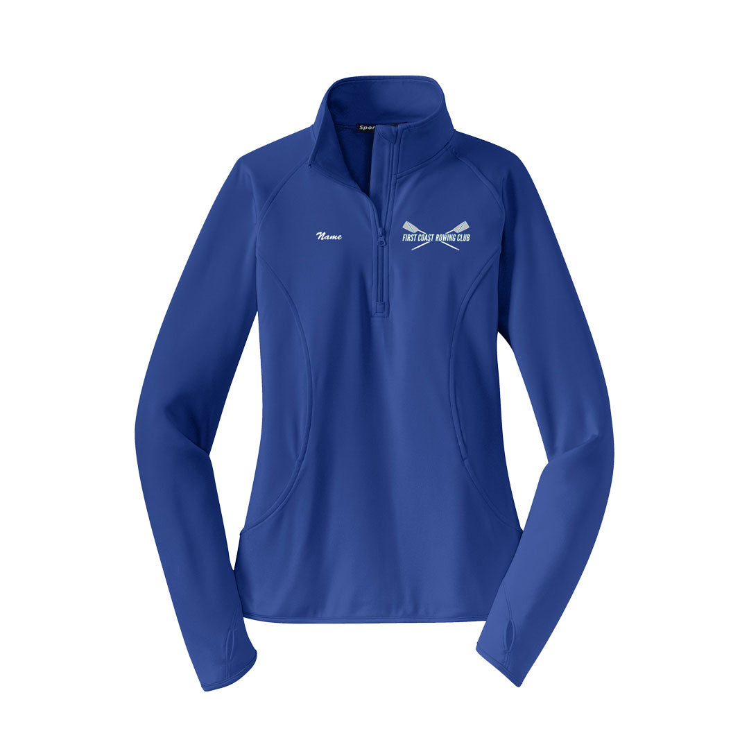 First Coast Rowing Club Ladies Performance Pullover w/Thumbhole