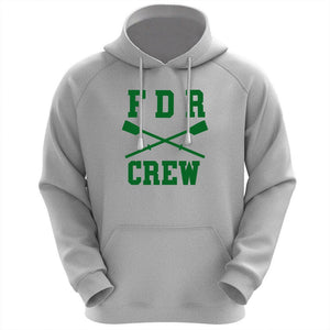 50/50 Hooded FDR Crew Pullover Sweatshirt - Gray