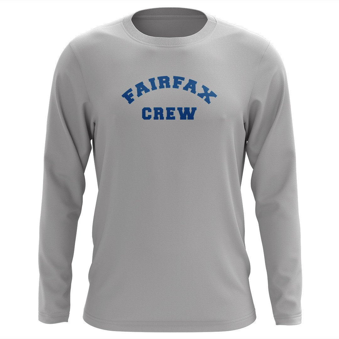 Custom Fairfax Crew Long Sleeve Cotton T-Shirt