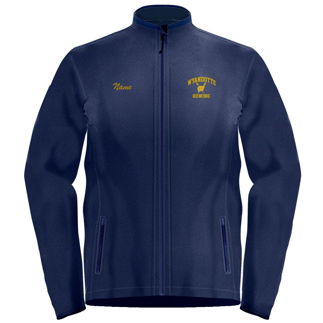 Full Zip Wyandotte Rowing Fleece Pullover